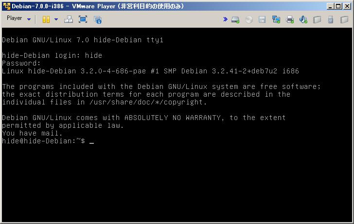 Debian画面