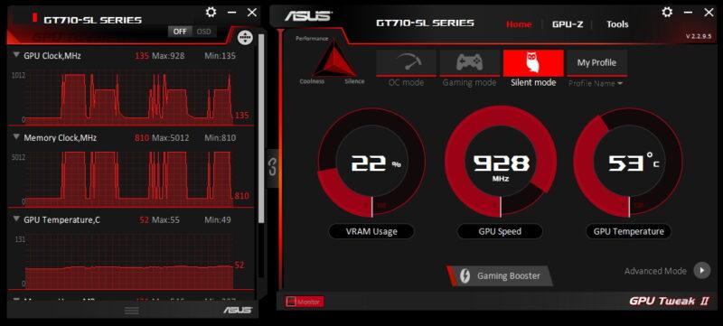 ASUSのグラフィックボードユーティリティ GPU Tweak II
