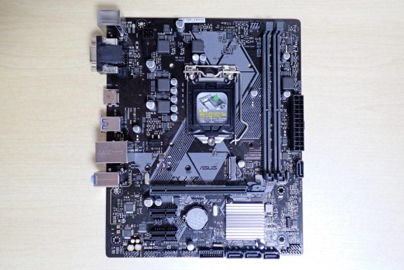 ASUS MicroATXマザーボード PRIME H310M-E R2.0の本体