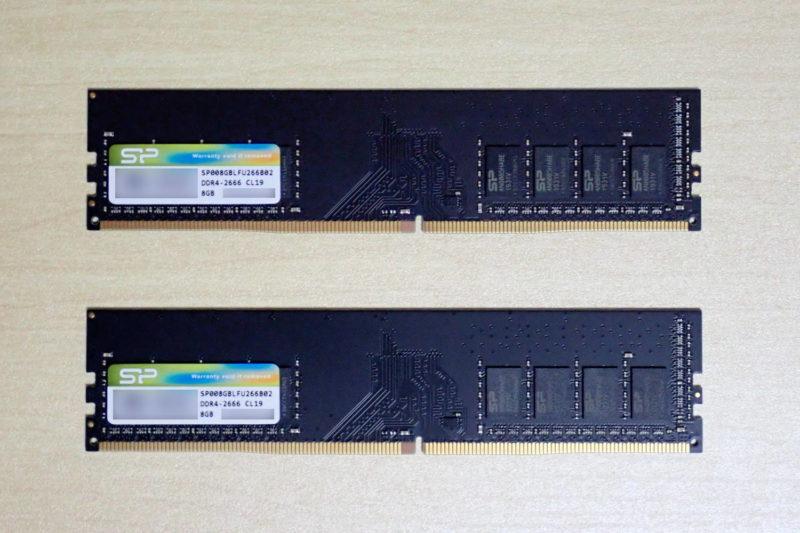 シリコンパワー メモリ DDR4-2666 16GB(8GB×2)