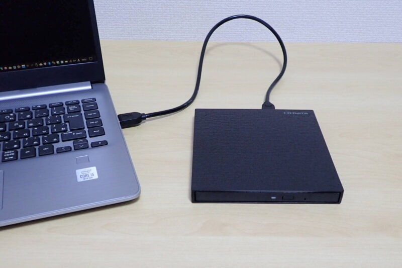 I-O DATA 外付けポータブルブルーレイドライブ EX-BD03KをUSBバスパワーで使用