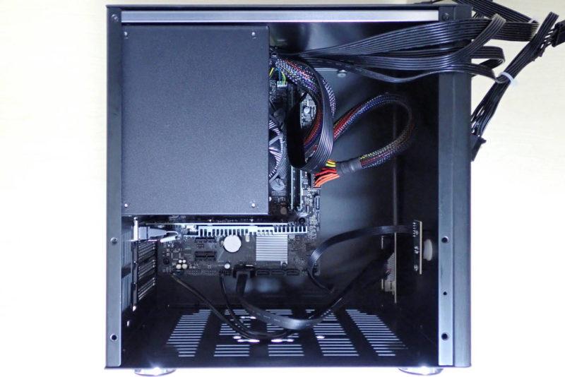 JONSBO V4 PCケースにATX電源ユニットを取り付け