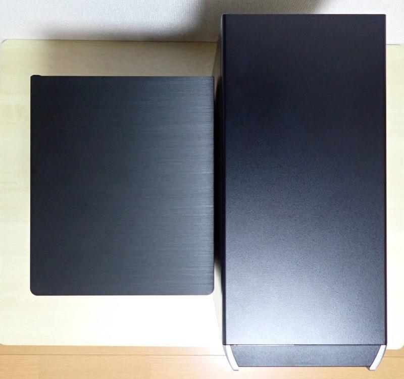 JONSBO V4 PCケースとミニタワーケースのサイズ比較