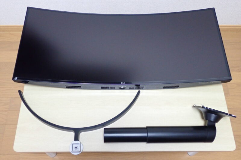 LG ウルトラワイドモニター 34WL75C-Bの組み立て