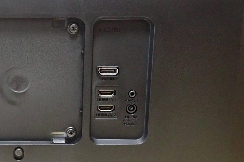 LG ウルトラワイドモニター 34WL75C-Bの背面インターフェース
