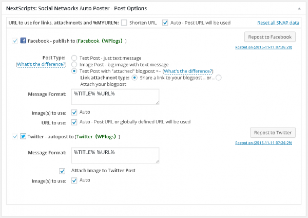 Social Networks Auto-Poster