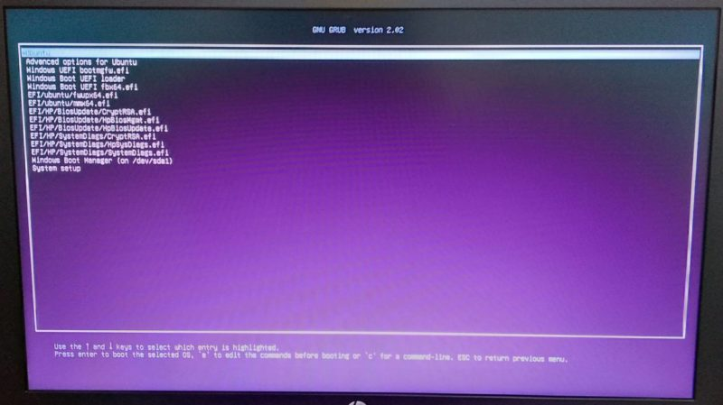 Ubuntu GRUB Boot Repair