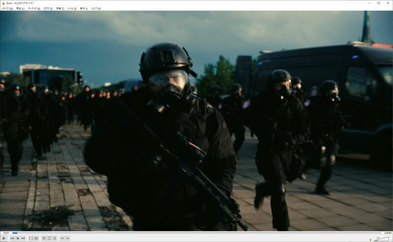 VLC media playerで映画TENET テネットを鑑賞