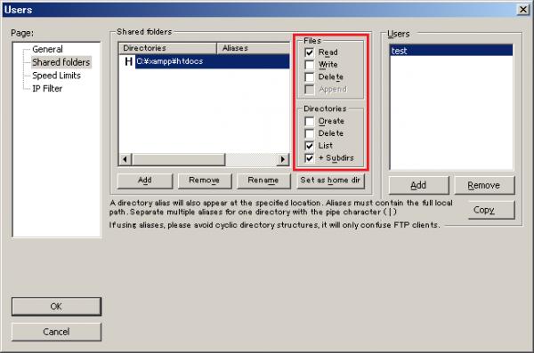 XAMPP FileZilla